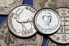 Münzen von Mauritius Lizenzfreie Stockfotos
