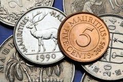 Münzen von Mauritius Lizenzfreies Stockbild