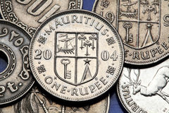 Münzen von Mauritius Lizenzfreie Stockfotografie