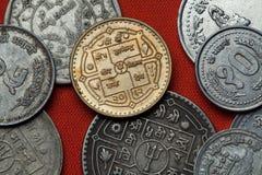 Münzen von Nepal lizenzfreies stockbild