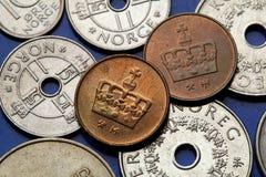 Münzen von Norwegen Stockfoto
