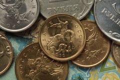 Münzen von Russland Stockbild