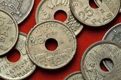 Münzen von Spanien Onate-Universität, Baskenland Stockfotos
