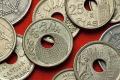 Münzen von Spanien Sevilla-Ausstellung 92 Lizenzfreies Stockbild