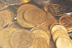 Münzen von Ukraine Stockfotos