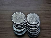 Münzen von 1 Yen Lizenzfreies Stockbild