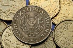Münzen von Zypern Stockbild