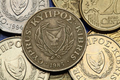 Münzen von Zypern Stockfotografie