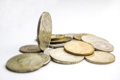 Münzen weltweit Stockfotografie