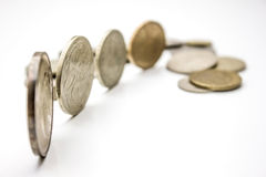 Münzen weltweit Stockbild