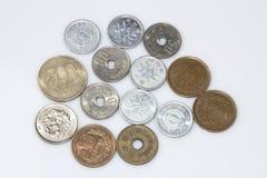 Münzen-Yen stockbilder