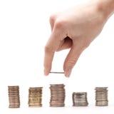 Münzenablage Lizenzfreie Stockbilder
