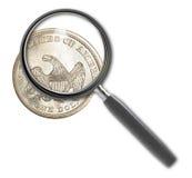 Münzendollar Stockfoto