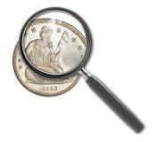 Münzendollar Lizenzfreies Stockfoto
