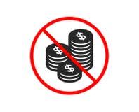 Münzengeldikone Bankwesenwährung Vektor lizenzfreie abbildung