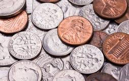 Münzenhintergrund Lizenzfreies Stockfoto