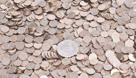 Münzenhintergrund Stockfotos
