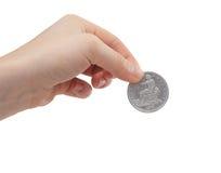 Münzenhintergrund Lizenzfreie Stockfotos