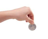 Münzenhintergrund Stockbilder