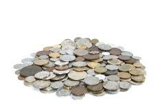 Münzenhintergrund lizenzfreie stockbilder