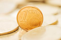 Münzenmakroabschluß oben Stockfotos