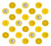 Münzenmuster stock abbildung