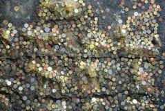 Münzenmuster im siamesischen Tempel Lizenzfreie Stockfotos