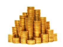 Münzenpyramide. Stockbilder