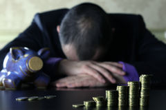 Münzensparschwein Lizenzfreies Stockfoto