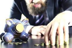 Münzensparschwein Stockfotografie
