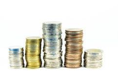 Münzenstapel Stockfoto