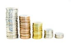 Münzenstapel Stockbilder
