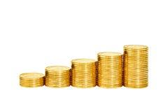 Münzenstapel Stockfotos