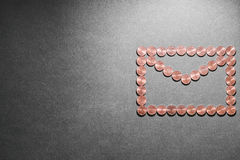 Münzenumschlag Stockfotografie