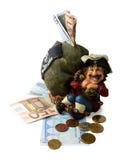 Münzkassette mit Geld Stockbild