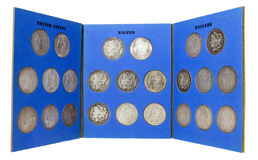 Münzsammlung lizenzfreie stockbilder