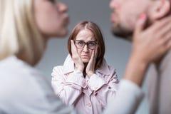 Mütterliche Eifersucht und overprotectiveness Lizenzfreies Stockfoto