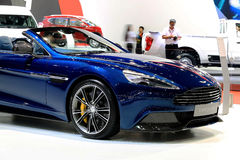 Mütze blauer Aston Martin-Reihe besiegen Lizenzfreies Stockfoto