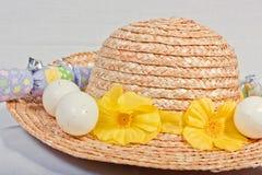Mütze und Eier Lizenzfreies Stockbild