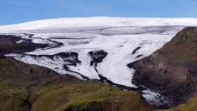 Mýrdalsjökull is a glacier in the south of the Icelandic highlands royalty free stock photos