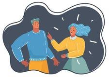 Mąż i żona w bełcie ilustracja wektor