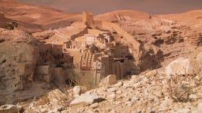 Mąci Sabas monaster i Kidron dolinę, Izrael zbiory