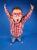Mądra nerdy chłopiec Zdjęcie Stock