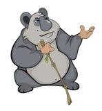 Mądra panda kreskówka Fotografia Royalty Free