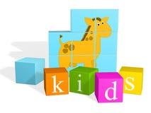 mądre dzieci jest wielo- kolorowe kostki ilustracji