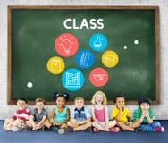Mądrość uczenie wiedzy klasy nauki pojęcie zdjęcie royalty free