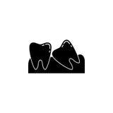 Mądrość zębów bryły ikona Zdjęcia Stock