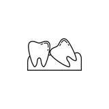 Mądrość zębów kreskowa ikona Fotografia Royalty Free
