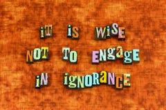 Mądry mądrości ignorancji uczenie przywódctwo zdjęcia royalty free
