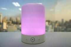 Mądrze bezprzewodowy mówcy światło Fotografia Stock